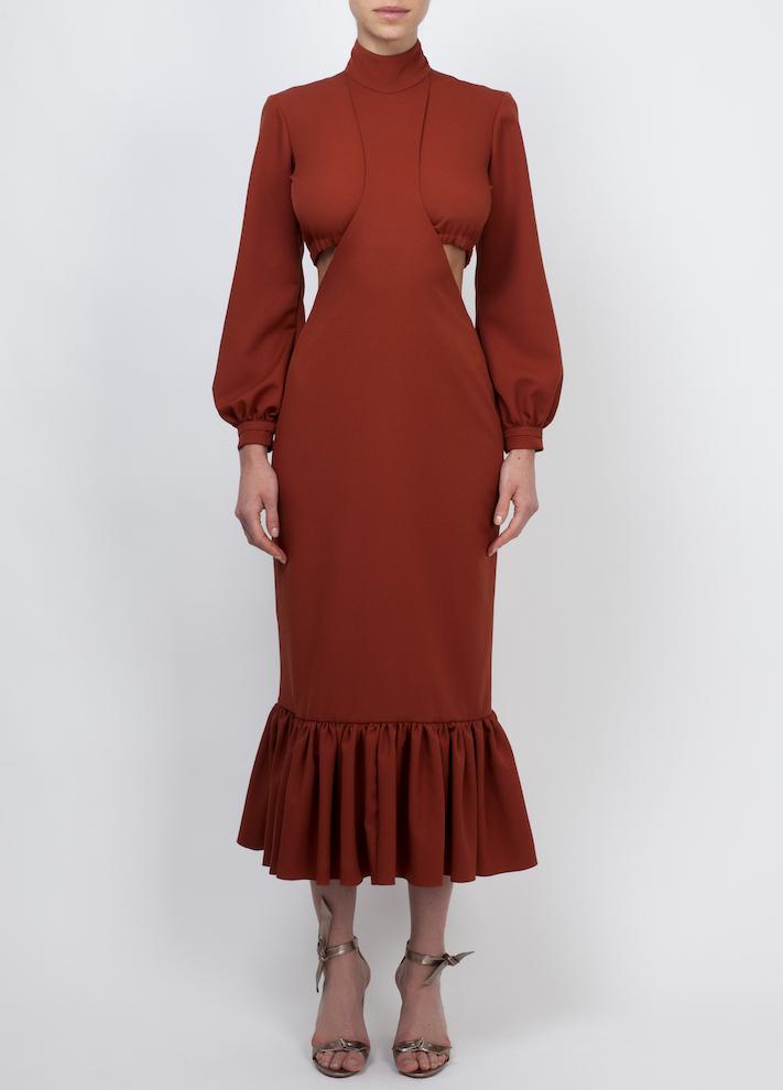 Vestido Mônaco em crepe